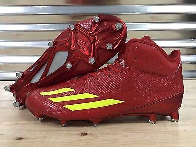 Adidas Adizero 5-Star 6.0 Mid Football Cleats Red Yellow SZ ( CG4248 )