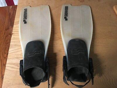- SHERWOOD FINS scuba diving Open Heel USED GOOD durable foot flipper