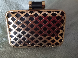 Gold and Black Evening Clutch Bag Mindarie Wanneroo Area Preview