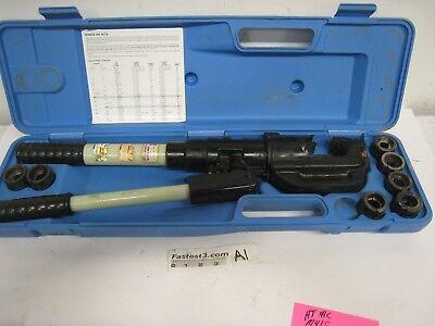 Huskie Tools Ep-510 12-ton Hydraulic Crimper W 7 Dies