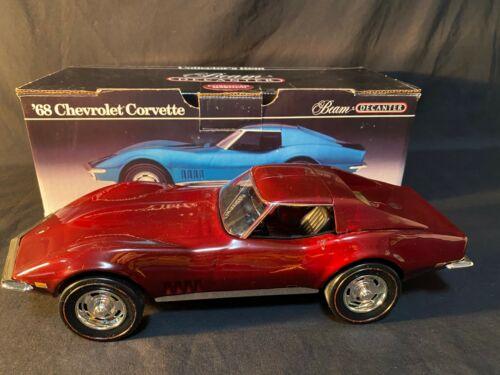 RARE 1968 Corvette A Jim Beam Decanter w/ Box Item Color Cordovan Maroon EMPTY