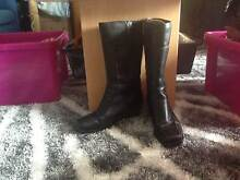 Closed Toe Knee Length Black Boots Size 8 1/2 Lakes Entrance East Gippsland Preview