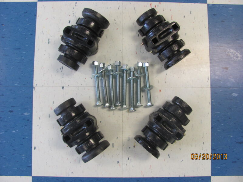 """4 DISC HARROW BEARING COMPLETE,1"""" SQUARE W/CAPS & BOLTS"""