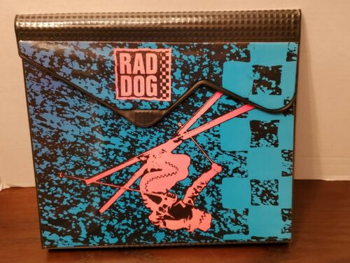 Vintage Mead Trapper Keeper Data Center RAD DOG Skier With Insert 1989 RARE