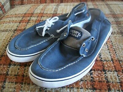 """Sperry Top-Sider Mens 6M (38.5) """"Halyard"""" Gray Canvas Boat Shoe for sale  Shipping to South Africa"""