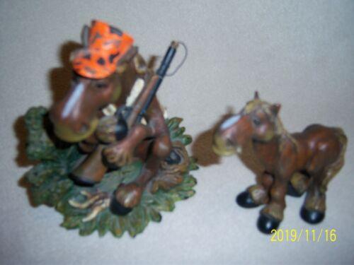 Hunter Horse/Moose & Horse/Moose, Bearfoots  Figurine, Big Sky Carvers