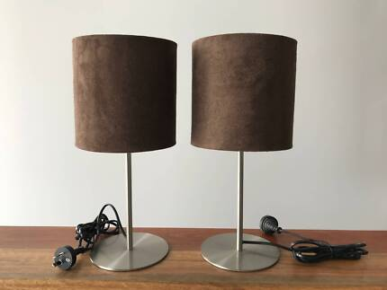 Bedside table lamps pair