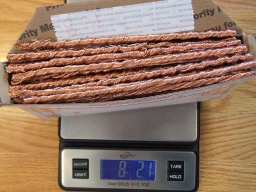 8 Lbs Scrap Copper Clean Bare  Wire Melt Recycle Ingot Cast .999 Fine