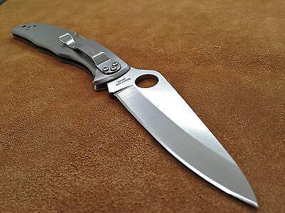 Spyderco Stainless Endura 4 C10P Saber Ground FRN Plain Edge Knife 3 3/4 * VG-10