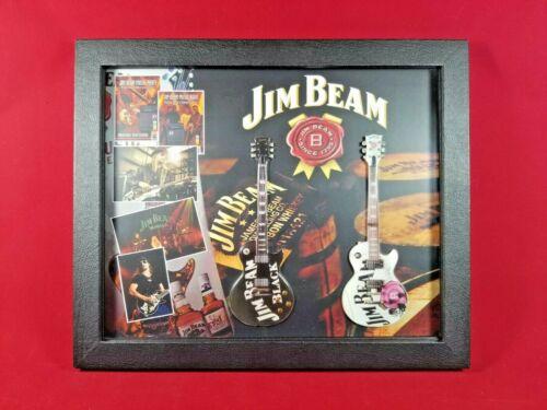 Kid Rock Jim Beam Miniature Guitar Tribute in Shadow Box SBCD KRJB