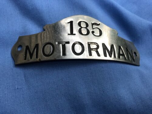 VINTAGE Union Street Railroad New Bedford Mass. Motorman Employee Hat Badge Rare