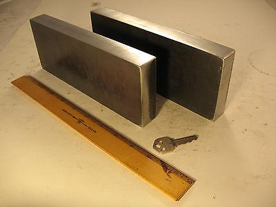 New 20 - 30 Ton Steel Press Plates 1 X 3.5 X 8.75 H-frame Ground Arbor Set
