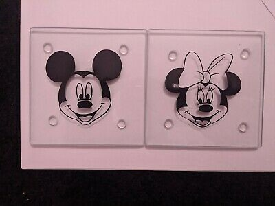 Disney Mickey and Minnie Glass Coasters
