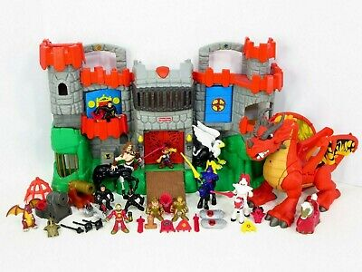 Fisher Price Imaginext Great Adventures Castle Medieval Figures Dragons Lot