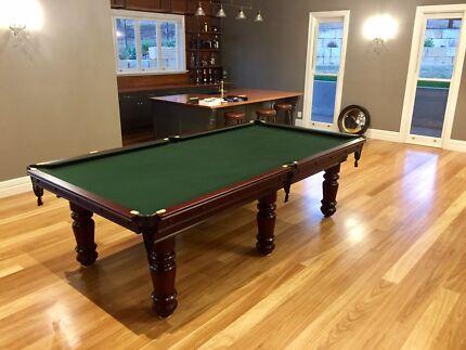 """3/4 billiard tables - pot black 9x4'6"""""""