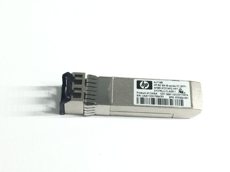 670504-001 Hp Aj716b 8gb Short Wave B-series Fibre Channel Transceiver