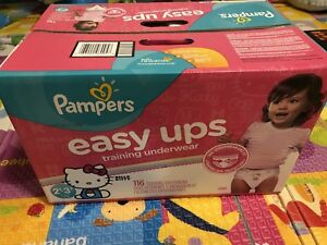 PAMPERS Easy Up Training Pants 2T-3T,116 count