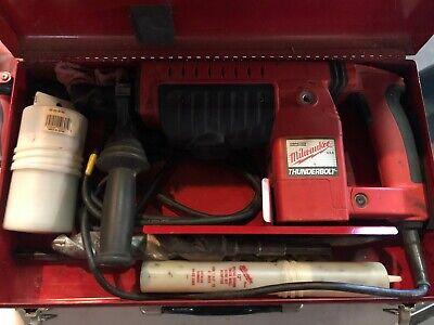 Milwaukee Heavy Duty Thunderbolt 1-12 Rotary Hammer With Extra Drillcore Bits