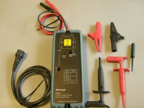 TEKTRONIX P5201 25MHz,1400V Differential Probe, 20X/200X(Tested & Accessories)