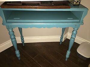 Vintage peacock blue secretary desk