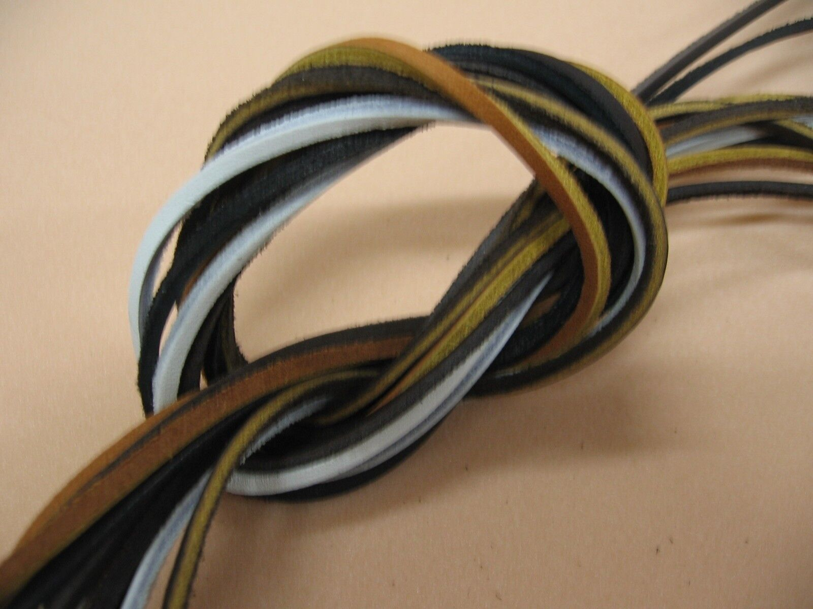 """1 Pair Rawhide Leather Lace 72"""" X 1/8"""" Boat Shoelaces,Hiking"""