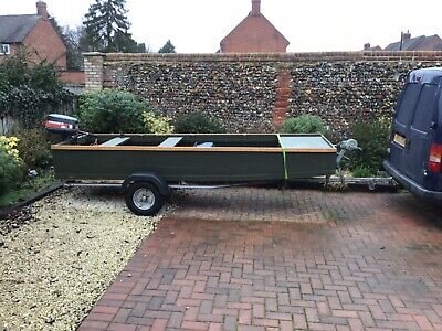 12 Ft  Fishing Boat Jon type flat Bottomed suited to Rivers Lakes  ,Broads fens