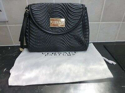 VERSACE PARFUMS BLACK CLUTCH HANDBAG NEW  WITHOUT TAGS & DUSTCOVER