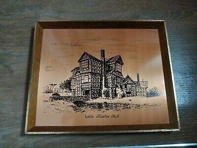 Vintage Picture, Copper Etched, Little Morton Hall, Building, England