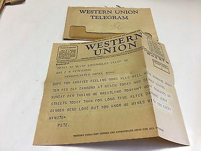 Western Union Telegram 1932 July 18Th Vintage Western Union Telegram   Envelope