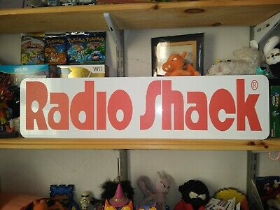 "Radio Shack (Old 80's Logo) Sign, RadioShack 24""x6"" Display."