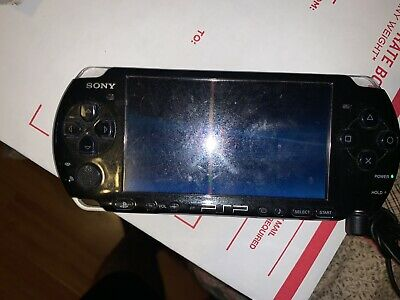 Sony PSP 3001 PlayStation Portable Piano Black Tested Working