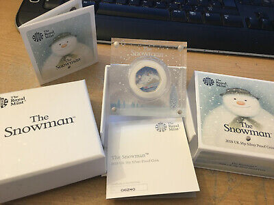 2018 The Snowman 50p Silver Proof Coin Issued By The Royal Mint with COA 6240