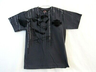 Harley-Davidson Mens size small Skull Theme T shirt gray Oconomowoc, WI