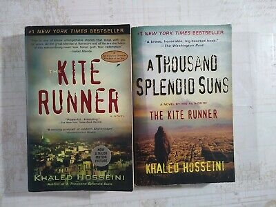 Lot of 2 - The Kite Runner  &  A Thousand Splendid Suns by Khaled Hosseni - PB