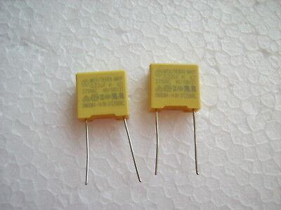 220 nF 0,22 µF MKP  275 V AC K X2  Polypropylen Folien Kondensator ( 2Stck.) (Kondensator Ac)