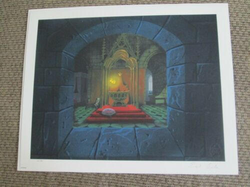 Disney Eyvind Earle signed Sleeping Beauty Fairies giclee animation Print