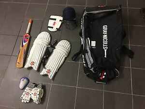 Gray Nicolls cricket kit including bat Clayfield Brisbane North East Preview