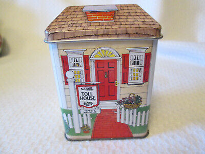Vintage Nestle Toll House Small Tin Made In England House