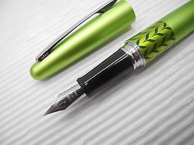 Green Pilot FP-MR3-MB Fine Fountain pen ink Converter w/ box + 2 cartridges BK