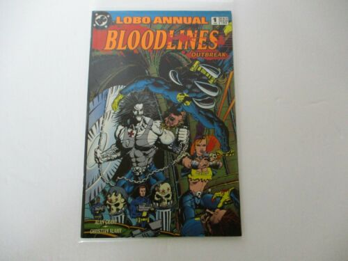 DC Comics Lobo Annual Bloodlines Outbreak #1 1993 By Alan Grant Christian Alamy