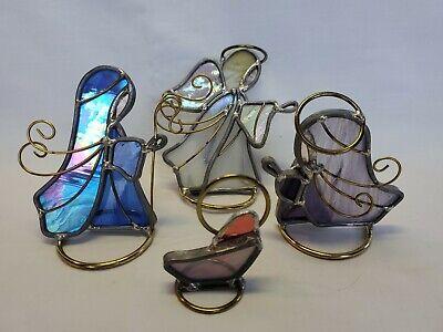 Stained Glass Nativity (Stained Glass NATIVITY SCENE Joseph, Mary, Jesus,)