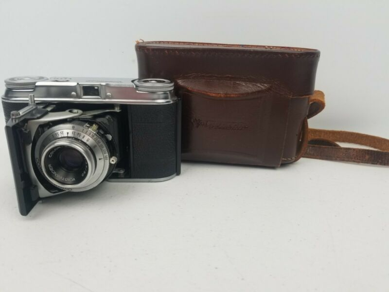 Vintage Voigtlander Vito II 35mm Folding Camera With Leather Case