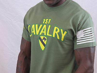 1st Cavalry Division Vietnam Veteran T-shirt(Vietnam Emblem on right sleeve) 1st Cavalry Division T-shirt
