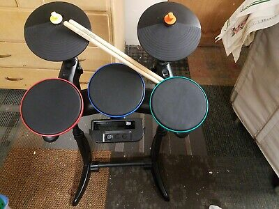 Band Hero Guitar Hero RockBand Wireless Drum Nintendo Wii Nice shape no pedal