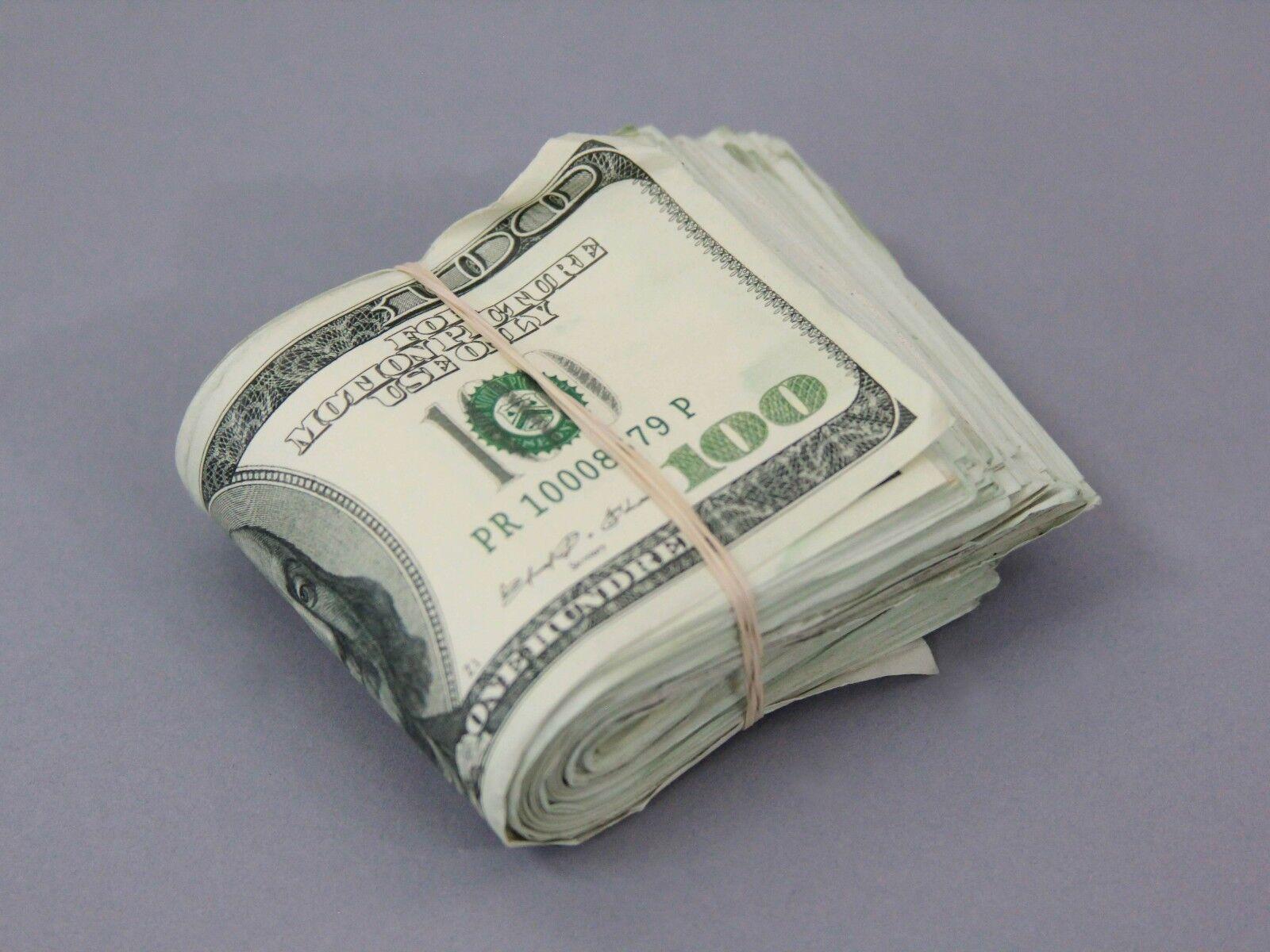 Купить Prop Money $10,000 AGED Blank Filler FOLD Play Fake Prop Movie Money