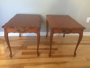 Solid Wood French Provincial End /  Side Tables