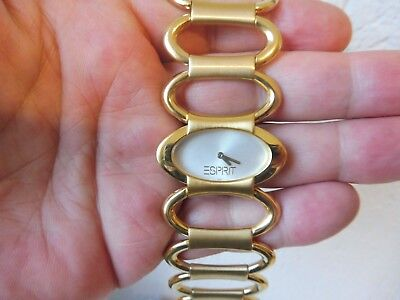 Classy Wrist Watch __Esprit__ Gold Plated __ New___