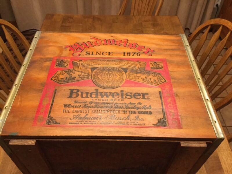 Budweiser Beer Vintage Original Anheuser Busch Beer Crate