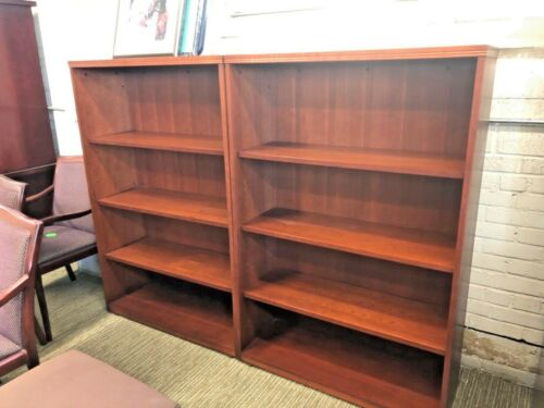 HEAVY DUTY BOOKCASE by GUNLOCKE OFFICE FURNITURE in CHERRY COLOR WOOD