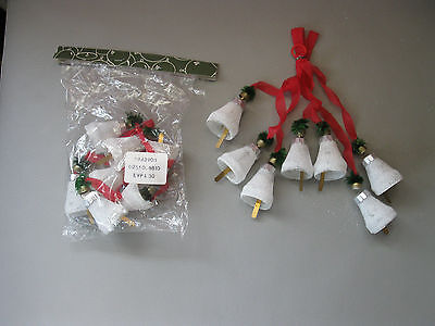 DDR Glasglocken aus Lauscha Weihnachtsbaumschmuck handgefertigt Glöckchen